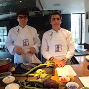Franck Cerutti cuisinait en live dimanche matin dans l'atelier du chef Denis Fetisson