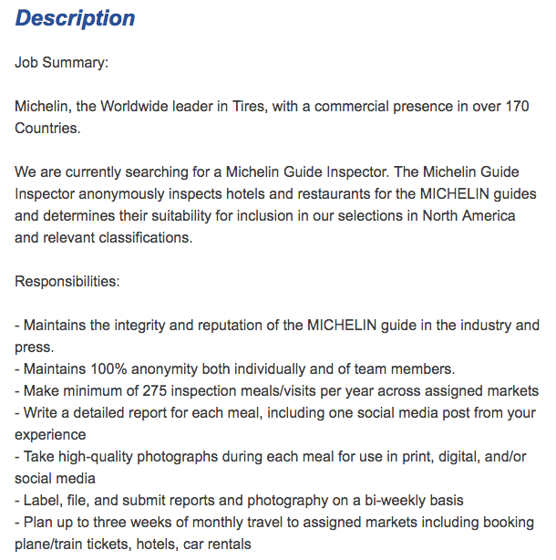 offre d u0026 39 emploi   recherche inspecteur michelin pour usa bas u00e9  u00e0 new york