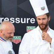 Philippe Etchebest cuisine avec Chris Hemsworth pour Tag Heuer