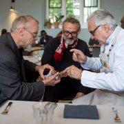 Londres – Solidarité des chefs Romain Meder et Alain Ducasse pour Massimo Bottura et le lancement du Refettorio Felix