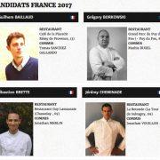 Bocuse d'Or sélection 2017 France … découvrez les 8 candidats sélectionnés