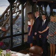 C'est Alain Ducasse qui a lui-même reçu les couples Macron et Trump au Jules Verne – les premières photos !
