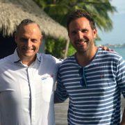 Dîner à 4 mains avec les chefs Christophe Michalak et Emmanuel Soares aux Maldives au One & Only Reethi Rah