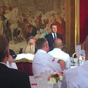 Ce qu'a dit le Président Emmanuel Macron aux chefs : «la nourriture est bien une affaire d'État … la France est attendue pour sa gastronomie»