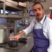 Suivez Franck Pelux dans ses cuisines du Crocodile à Strasbourg pour une recette en vidéo