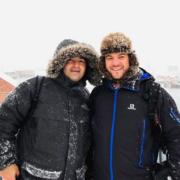 Les chefs Éric Guérin et Alan Geaam à la pêche au Skrei en Norvège