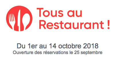 tous au restaurant 2018 dates