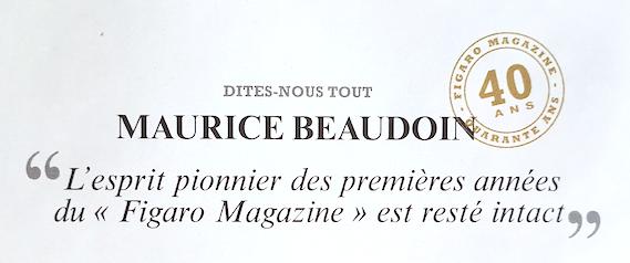 rubrique gastronomie du Figaro Magazine