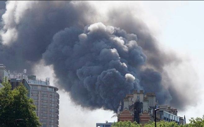 incendie mandarin oriental londres