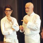 Dominique Crenn et Guy Savoy cuisinaient hier pour le Comité Colbert