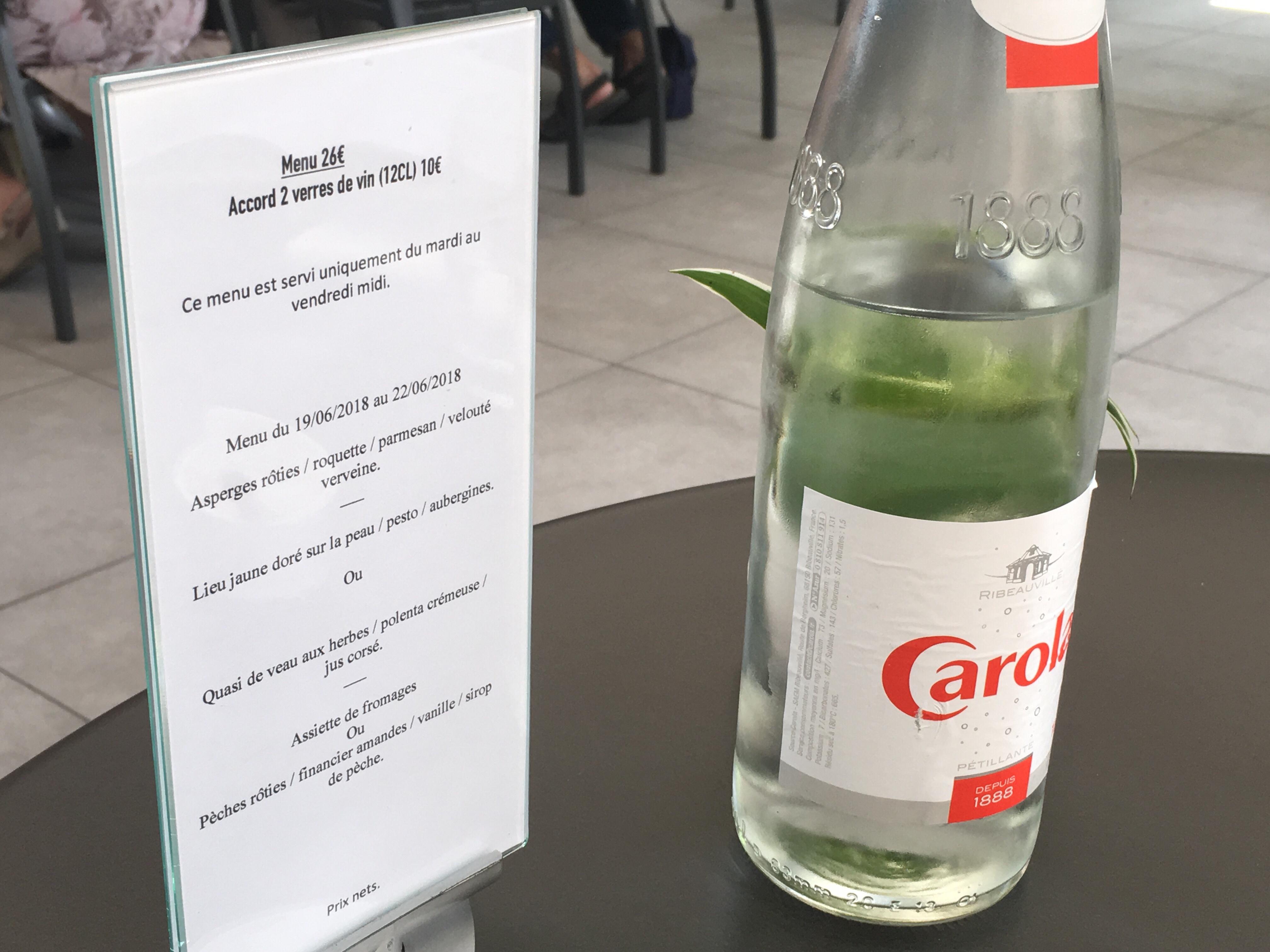 menu restaurant les plaisirs gourmands