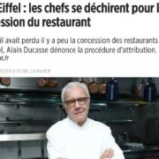 La Guerre des Étoiles à la Tour Eiffel – Ducasse/Anton/Marx tout n'est pas terminé
