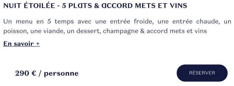 tarif menu ducasse sur seine