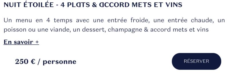 menu étoilé ducasse sur seine
