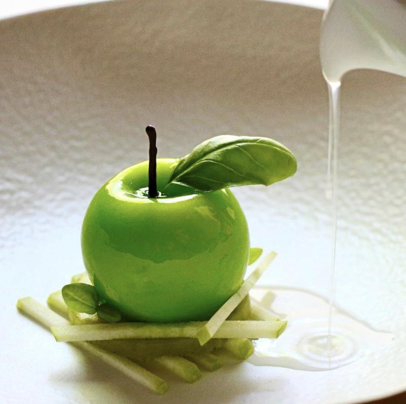pomme fruit trompe l'oeil