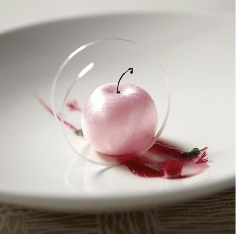 pomme rose trompe l'oeil