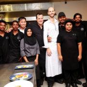 Dîner à 4 mains hier soir à Colombo avec le chef Mickaël Farina de l'hôtel Resort Kandolhu Maldives