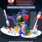 Tous Au Restaurant – 9 ème édition – Ouverture des réservations, mardi 25 septembre à 10 heures