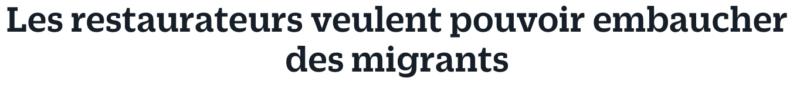 migrants restauration