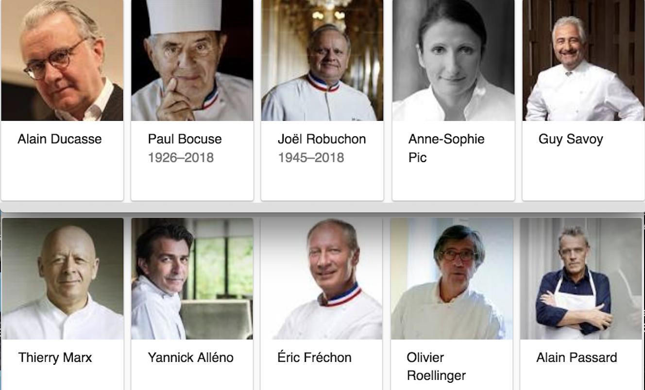 popularite grands chefs