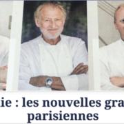 Paris au Sommet de sa gastronomie dans Le Figaro – Mais attention c'est aussi l'hiver des tout les dangers