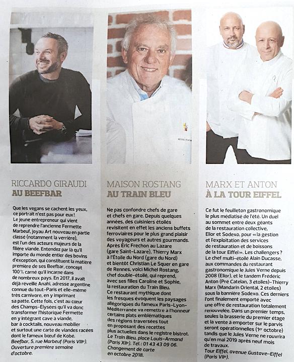 chefs gastronomie francaise paris