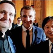 Hommage au chef Robuchon hier soir au Dîner à Versailles pour le lancement de la saison Culturelle France/Japon en présence du Prince Naruhito