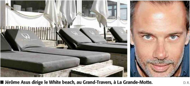 white beach la grande motte