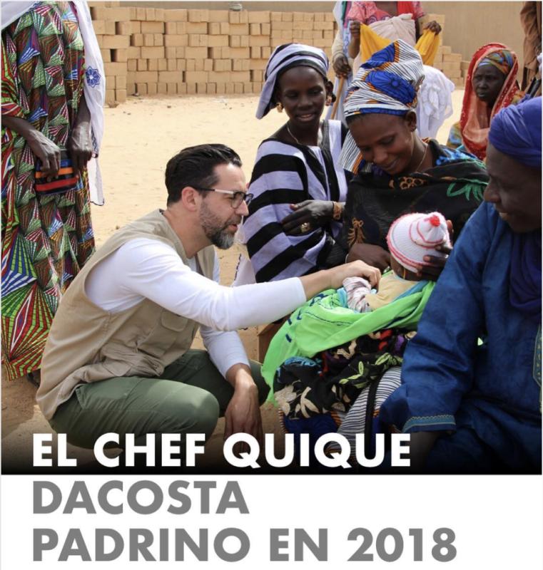 el chef quique dacosta padrino 2018