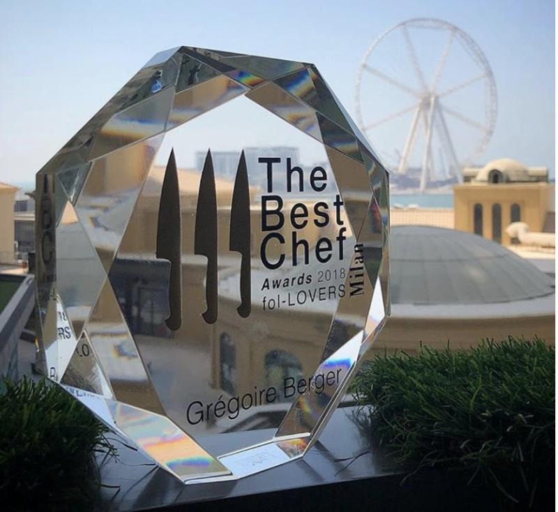 best chef award 2018 gregoire berger