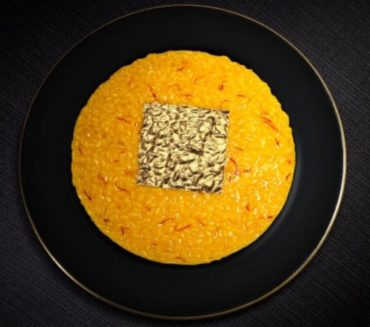 risotto safran feuille d'or