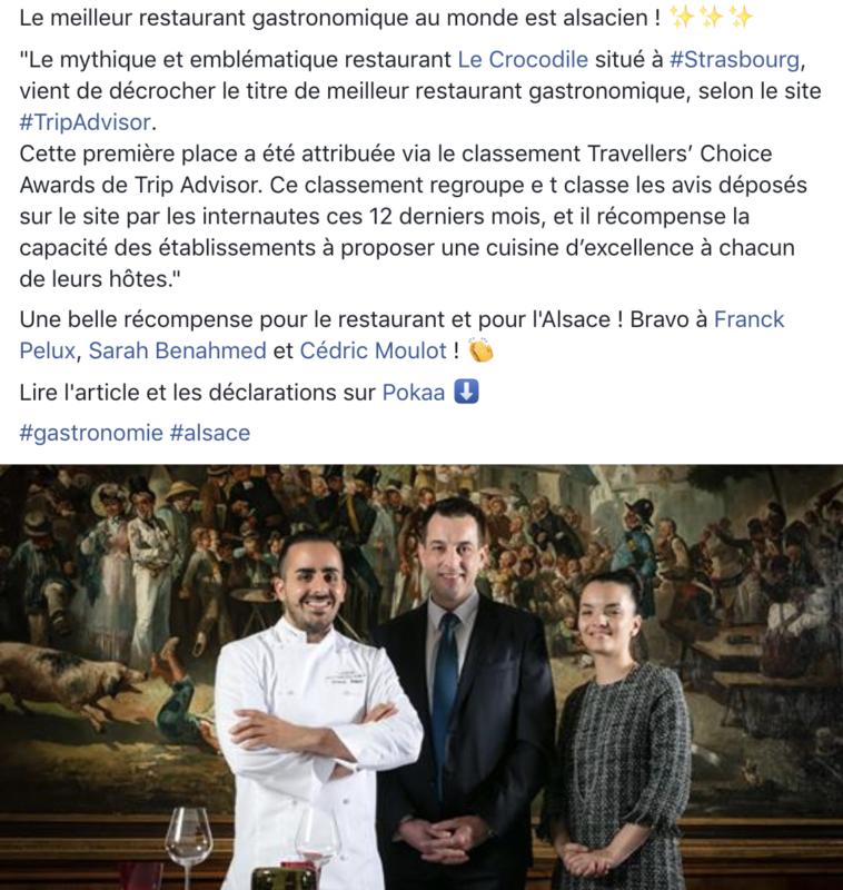 tripadvisor restaurant crocodile strasbourg