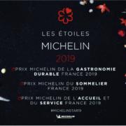 Guide Michelin France 2019 – Sortie le 21 janvier 2019 – Audrey Pulvar présentera la soirée  où seront remis plusieurs nouveaux prix signés Michelin