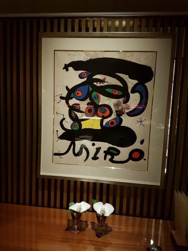 oeuvre d'art restaurant japonais