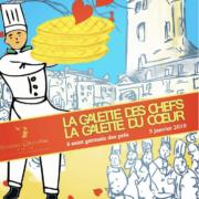 Paris – Aujourd'hui –  Galette des chefs/Galette du coeur – Place Saint-Germain-Des-Près avec les disciples d'Escoffier