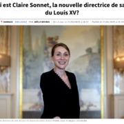 Claire Sonnet directrice de salle du Louis XV à Monaco – » «Si le chef ne va pas bien, je ne vais pas aller. Chaque médaillon de la chaîne à son importance. «