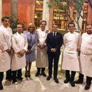 Le chef Christophe Bacquié a signé hier soir le dîner pour le Président Chinois à la Villa Kérylos à Baulieu, demain soir ce sera au tour des chefs Piège et Anton