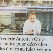 Objectif étoiles à la Tour Eiffel pour le chef Frédéric Anton : » Le Jules Verne n'a jamais décroché deux étoiles «