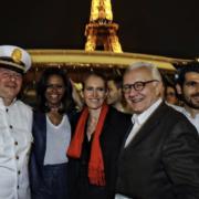 Michele Obama de passage à Paris pour la promotion de son livre a fait escale sur le Ducasse-sur-Seine