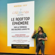 Sur la terrasse des Galeries Lafayette Paris Haussmann – Julien Sebbag le chef qui arrive a faire manger des légumes à tout le monde