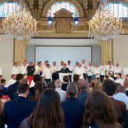 Emmanuel Macron face aux chefs – «Vous êtes les héritiers de l'histoire française ! C'est pour cela que je suis toujours aux côtés des chefs, de la gastronomie et de cet art d'être français «