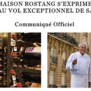 La Maison Rostang s'exprime officiellement après le vol d'une importante partie de sa cave de collection