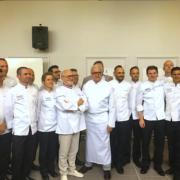 Yves Thuriès et Alain Ducasse à Yssingeaux pour fêter la fin d'étude de la 1ère promotion de Bachelor en Arts culinaires et Pâtisserie Française