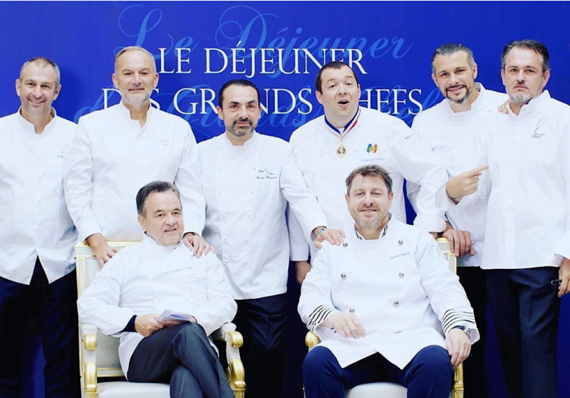 photo du dejeuner des grands chefs