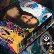 Quand les sushis se mettent en boîte d'artiste explosive et colorée