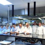 Dans les cuisines du Louis XV à Monaco pour le dîner croisé Romain Merder/Dominique Lory/Jessica Prealpato