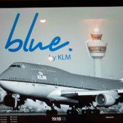 Blue par Joris Bijdenijk… table de haut vol à l'aéroport d'Amsterdam Schiphol