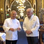 Georges Blanc et Michel Rostang étaient en cuisine au Train Bleu à Paris pour un 4 mains à la Gare de Lyon à Paris