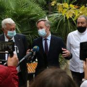 Le secrétaire d'État au Tourisme, Jean-Baptiste Lemoyne à la rencontre des restaurateurs à Montpellier