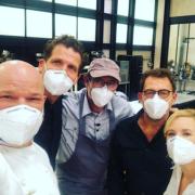 Le chef Alexandre Mazzia en tournage pour M6 et son programme Top Chef saison 12